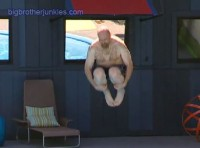 Adam doing a cannon ball