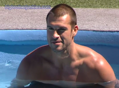 brendon in the pool