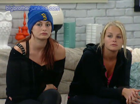 Jordan and Rachel in the HoH room