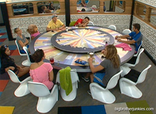 big brother 14 sitting at table
