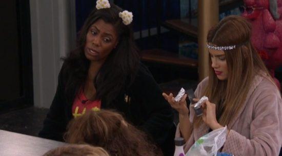 Ari doing her nails